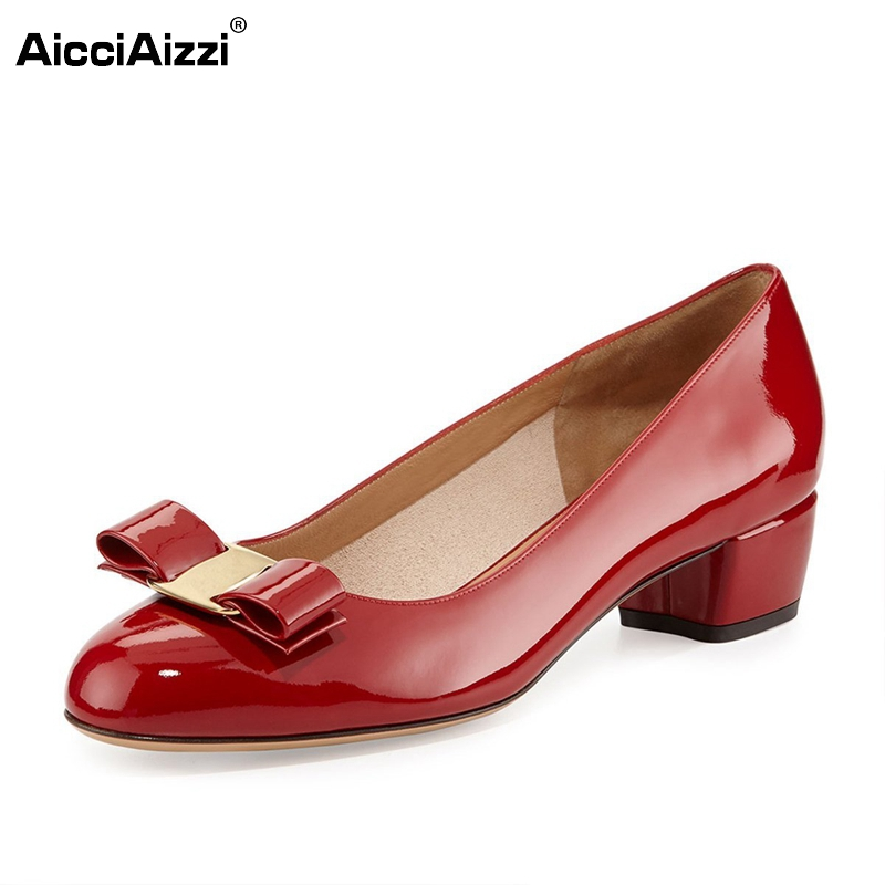 где купить Womens Low Heel Patent Leather Pointed Toe Shoes Woman Bowknot Slip On Dress Shoes Zapatos Mujer Ladies Footwear Size 35-46 B213 дешево
