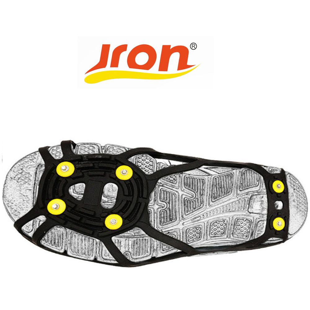Cleat Crampons Spike-Grips Traction Anti-Slip Snow Shoes Climbing Walking-On Jron