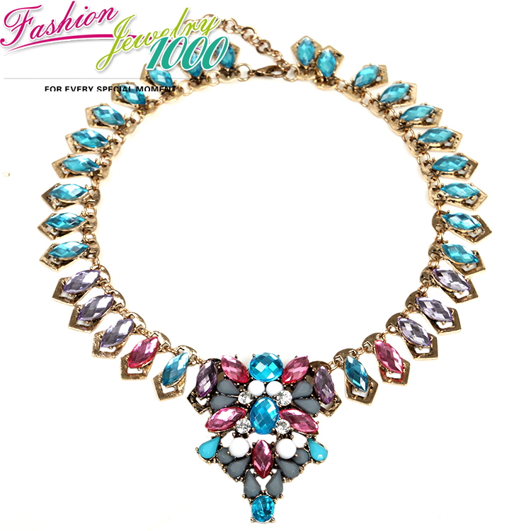 Buy new charm brand vintage multi flower for Costume jewelry for evening gowns