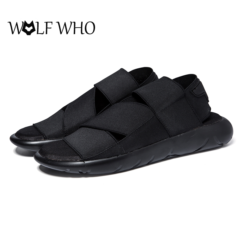 Hot Sale 2016 New Arrival Y3 Sandals KAOHE SANDALS Indoor Men Slippers Open toed Leather Sandals