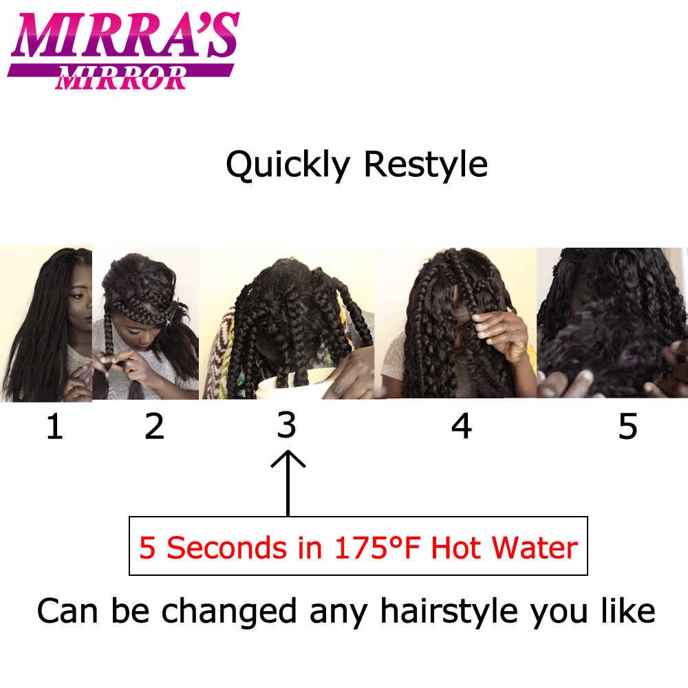 """Мирра зеркало горячей воды набор синтетических плетение волос коричневый вязаный крючком волос прямой вязаный крючком пучки волос 20 """"75 г 26 """"90 г"""