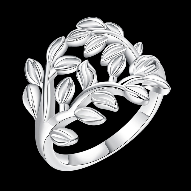 Jemmin 925 Sterling Silver Tree And Leaves Design Woman Wedding Engagement Party