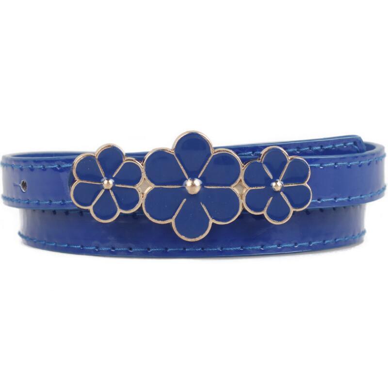2017 new women belts luxury designer belts ms paint flower adornment