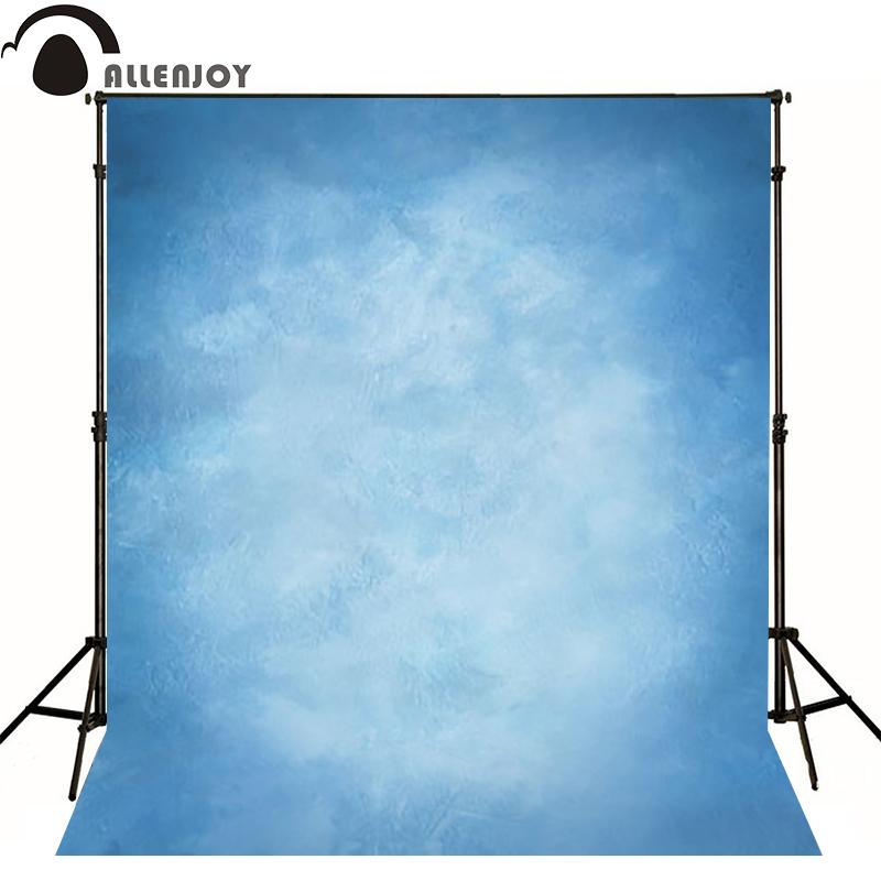 Prix pour Allenjoy Mince tissu Vinyle photographie Toile de Fond bleu Intérieur photographie fond tissu imprimé d'ordinateur peut personnalisé MH-071
