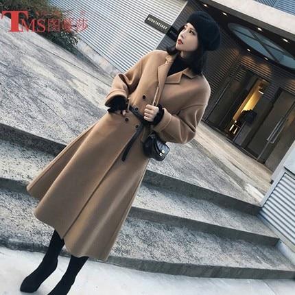 Laine 2 Femelle Modèles De Coréenne 2018 Nouveau Manteau Longue Version Section 1 AWWqPUtg