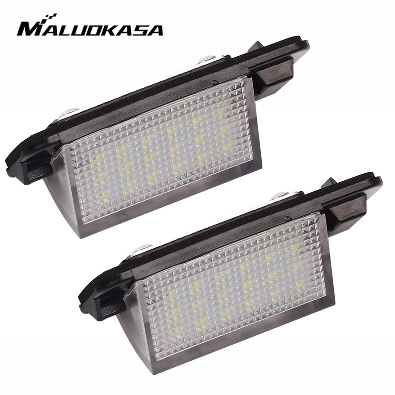 MALUOKASA 2X 18 SMD License Plate Light Error Free Light For BMW E36 1992-1998 318i 318is 318ti 320i 323i 325i 325iS 3-series 2 x error free led smd license plate lights for audi a4 s4 b5 1998 2001 white