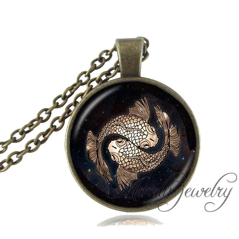 Drop Shipping Zodiac Virgo Libra Gemini Pisces Necklace 12 Constellation Horoscope Zodiac Signs Necklaces for women and men