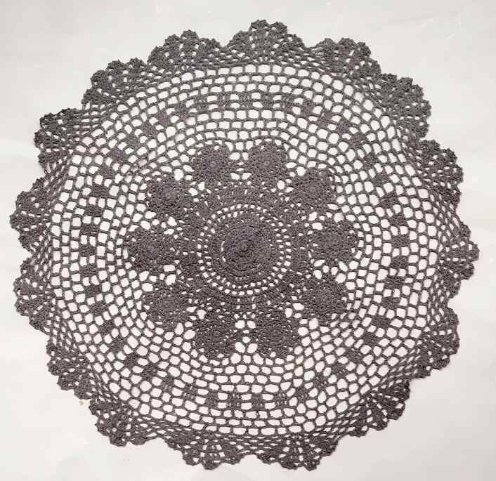 55 cm cerchio crochet del merletto del cotone coperta photography Neonato puntelli cestino strato infantile basket filler stuffer foto del bambino prop