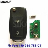 Car Remote Key With ID48 Chip For 1J0959753CT 5FA009259 00 Fabia Superb Octavia I 2000 2001