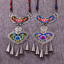 necklaces & pendants Original Butterflies Accessories Retro Ethnic Miao Bohemia Classic Embroidery Tassels