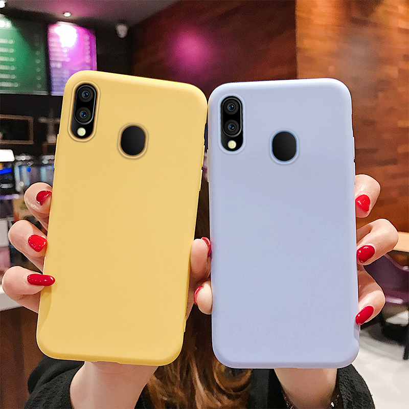 Silicone Candy Color <font><b>Case</b></font> for <font><b>Samsung</b></font> <font><b>Galaxy</b></font> A10 <font><b>A40</b></font> A70 <font><b>Case</b></font> for <font><b>Samsung</b></font> A30 A50 A60 2019 Back Soft TPU Cover <font><b>Phone</b></font> <font><b>Case</b></font> image