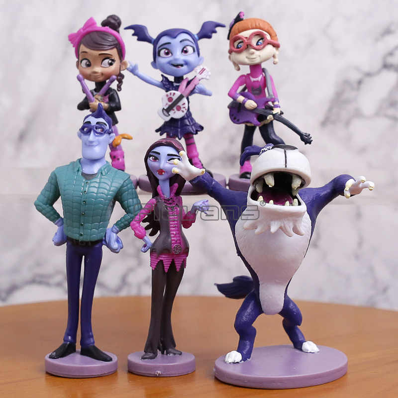 Junior Vampirina Dolls Figures The Vamp Girl PVC Models Anime Toys For Children Kids Birthday Party 6pcs/set