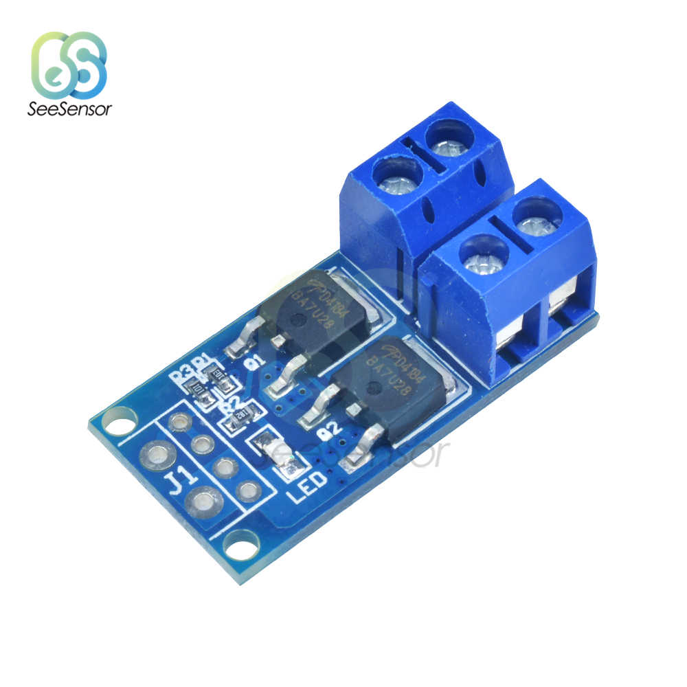 15A 400W MOS FET Trigger Switch Drive Module PWM Regulator Control Panel for arduino DC 5V-36V