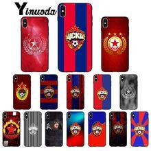 купить Yinuoda PFC CSKA Moscow DIY Painted Beautiful Phone Accessories Case for Apple iPhone 8 7 6 6S Plus X XS MAX 5 5S SE XR Cover дешево