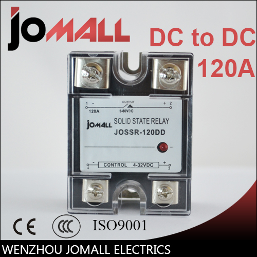 SSR -120DD DC control DC SSR 120a dd relay miniature Single phase protection Solid state relay ssr 120dd dc control dc ssr white shell single phase solid state relay 120a input 3 32v dc output 5 60v dc
