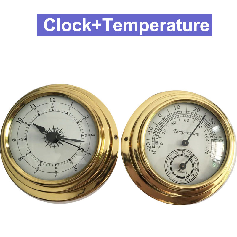 D96 72x98mm Thermometer Hygrometer Barometer Watches Clock 2 Whole Set Weather Station Meter цены