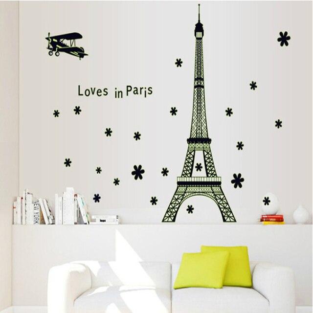 Stickers Voor Op De Muur.Eiffeltoren Licht Stickers Beweegbare Lichtgevende Stickers Muur