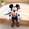 "Hot Sale ! Jeans Style Mickey And Minnie Plush Toy 12"" 30cm Size High Quality Mickey Mouse Soft Stuffed Toy Christmas Gift"