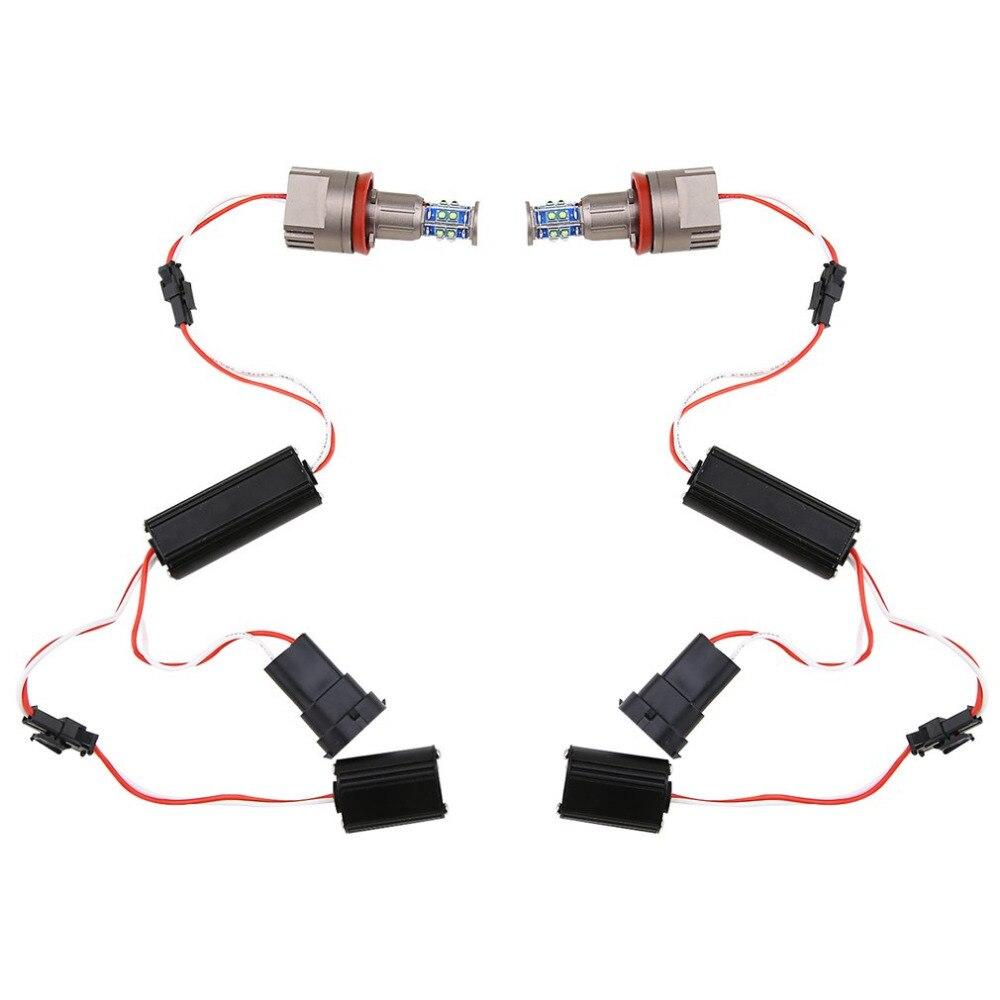 Супер яркий 1 пара 6500К 2*20Вт/40Вт/60 Вт h8 светодиодные угол глаза кольца лампы 360 градусов белый свет DC12V для BMWE92 серии автомобилей