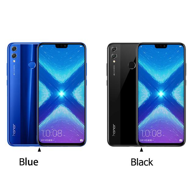 """Global Rom Huawe Honor 8X 6.5"""" full Screen OTA update Smartphone not 8x max Mobile phone Android 8.1 Octa Core fingerprint ID"""
