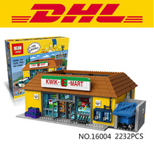 New LEPIN 16004 2232Pcs Simpson KWIK-E-MART Model set Building Kits Model Minifigure Compatible With Legeod 71016