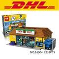 Nueva LEPIN 16004 2232 Unids Simpson KWIK-E-MART Modelo set Kits de Edificio Modelo