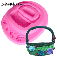 Flower Basket Shape Silicone Cake Mold Soap Decorating Tools Muffin Lace Icing Piping A329892