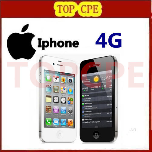 Iphone 4 100 Factory Original Unlocked Apple Iphone 4 Cell phone 3 5 Screen 8GB 16GB