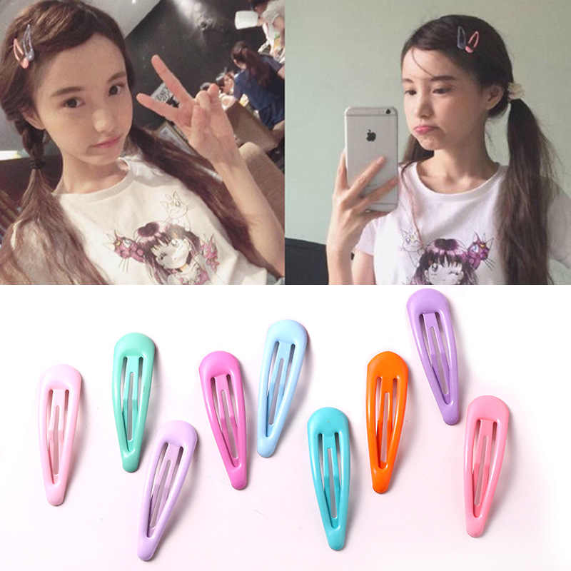 Girls Cute Candy Colors Waterdrop Hairpins Children Headband Sweet Hair Clips Barrettes Kids Fashion Hair Accessories