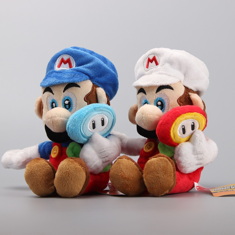 10pcsset Super Mario Bros Yoshi Kawaii Plush Keychain Stuffed Toy