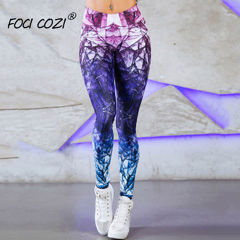 Trending Products 2019 Tie Dye   Leggings   For Women Workout Pants Purple /Ombre   Leggings   Print Spandex/Sports Leggins Fitness