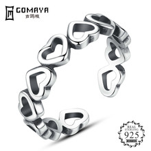 GOMAYA Authentic Heart Finger Rings 925 Sterling Silver for Women Snowflake Wedding Engagement Ring Jewelry все цены