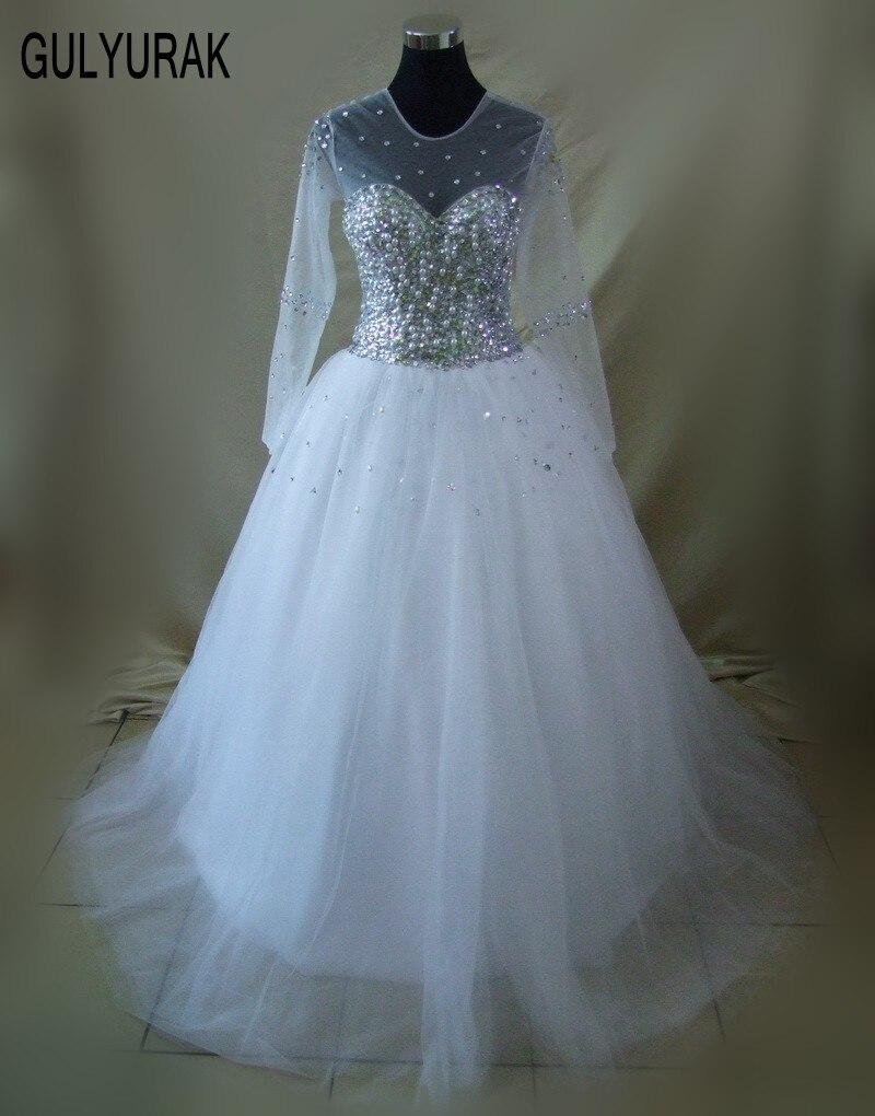 Online Buy Wholesale long sleev wedding dress from China long sleev ...