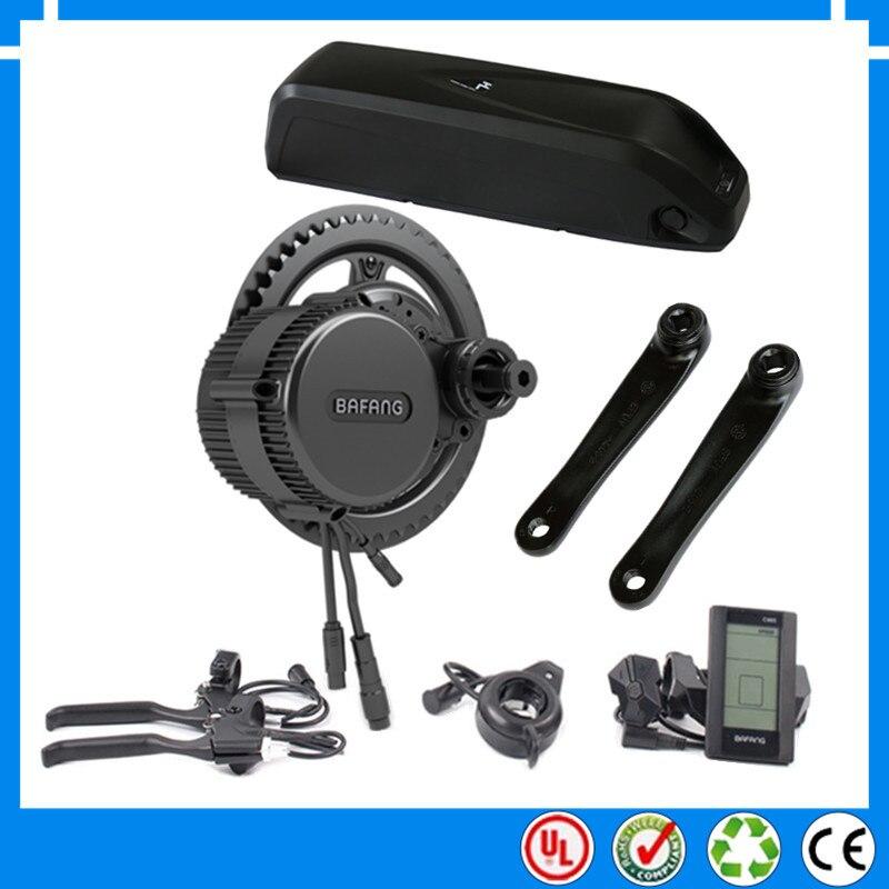 Цена за 36 В 250 Вт bbs01 bafang середине привод электрический двигатель комплект с 36 В 13ah литий ионный нижняя труба ebike батареи