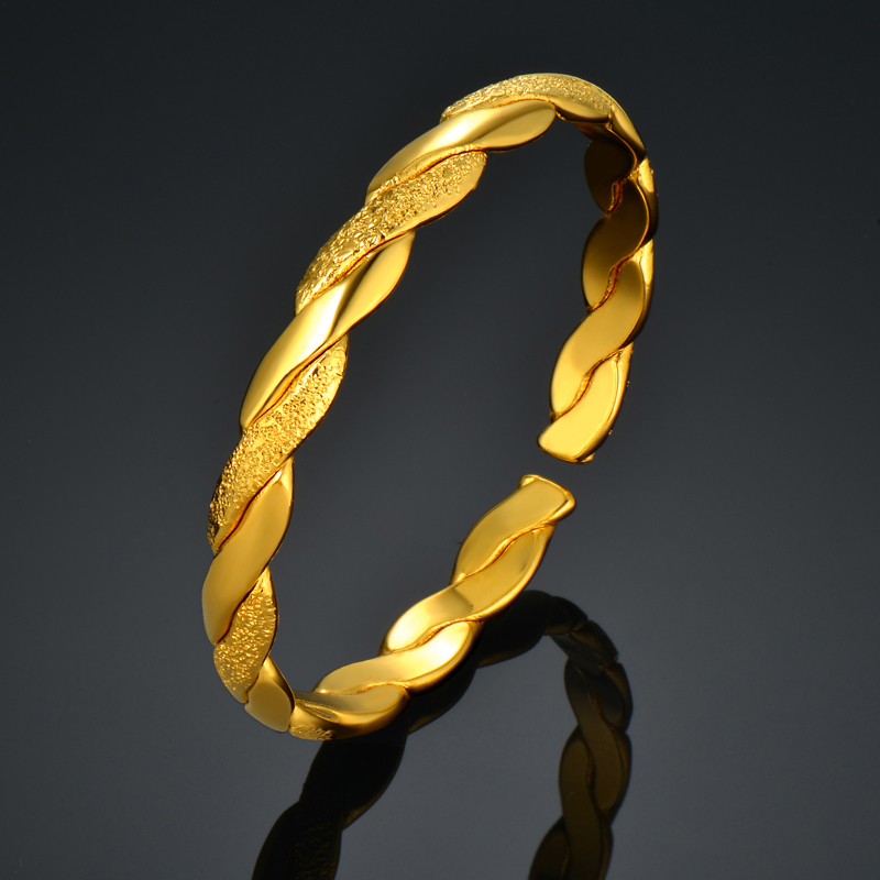 Online Shop Fashion Simple Bangles Gold Color For Women, Cute Baby ...
