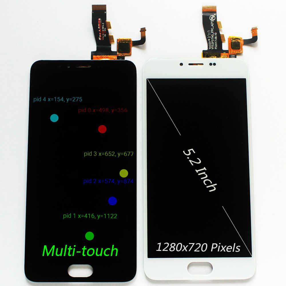 100% اختبار IPS شاشة الكريستال السائل ل Meizu M5 5.2 بوصة/M5 البسيطة M611D M611Y M611A M611H مجموعة المحولات الرقمية لشاشة تعمل بلمس اللمس المتعدد
