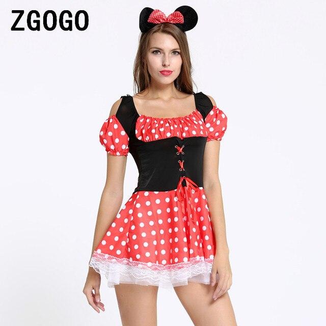 d48c5ba2981d Disfraces sexys de navidad juego de rol de Halloween Minnie Mouse disfraz  de Navidad para mujer