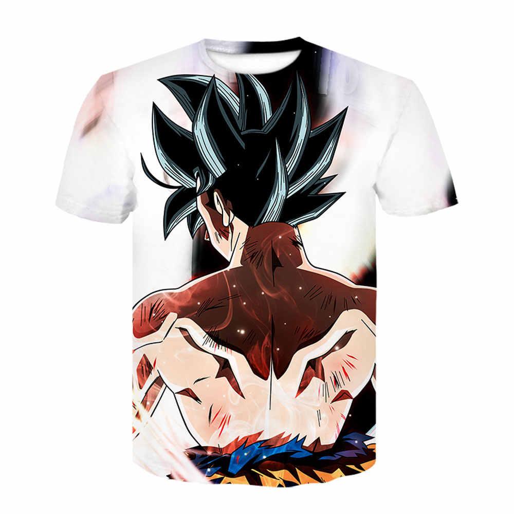Dragon Ball Z Ultra Instinct God Son Goku Super Saiyan аниме Мужская футболка с 3D принтом Летняя Повседневная забавная футболка с круглым вырезом