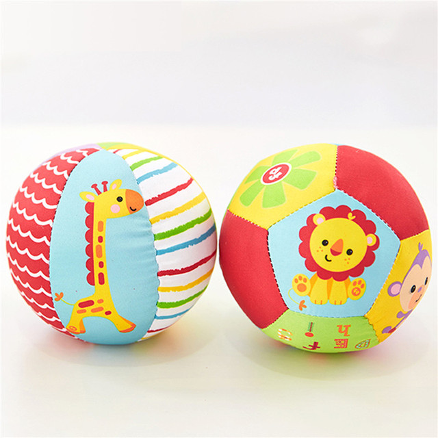 Baby Toys For Children Animal Ball Soft Plush Toys With Sound Baby Rattles Infant Babies Body Building Ball For 0-12 Months 1
