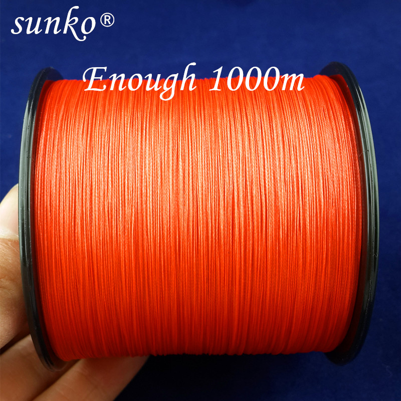 8strands1000M SUNKO Brand Super Strong Multifilament PE Material Braided Fishing Line 18 30 40 50 60 70 80 100 120 140 160LB saratoga super strong 100% pe braided fishing line 2000m 8 strands 30lb 40lb 50lb 60lb 70lb 80lb multifilament fishing wire