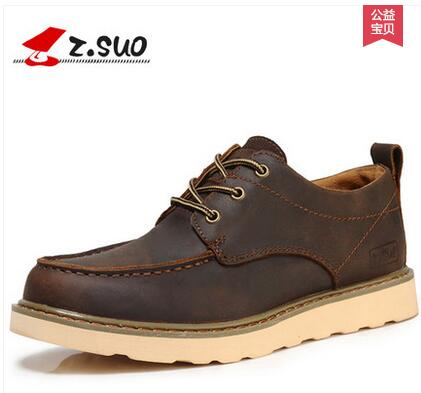 zsuo men s casual leather spring lyrate shoes on hot selling fashion england style