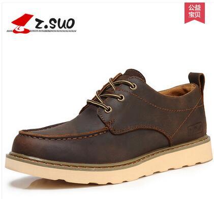 Zsuo الرجال الربيع lyrate الأحذية الجلدية عارضة على الساخن بيع ، الأزياء نمط إنجلترا-في أحذية رجالية غير رسمية من أحذية على  مجموعة 1