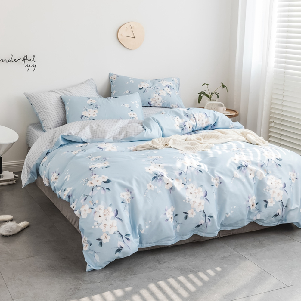 Youth moden pattern 100% cotton Bedding set Duvet cover set with pillowcase Double queen king 4pcs Spring summer soft comfortabl-in Bedding Sets from Home & Garden    3