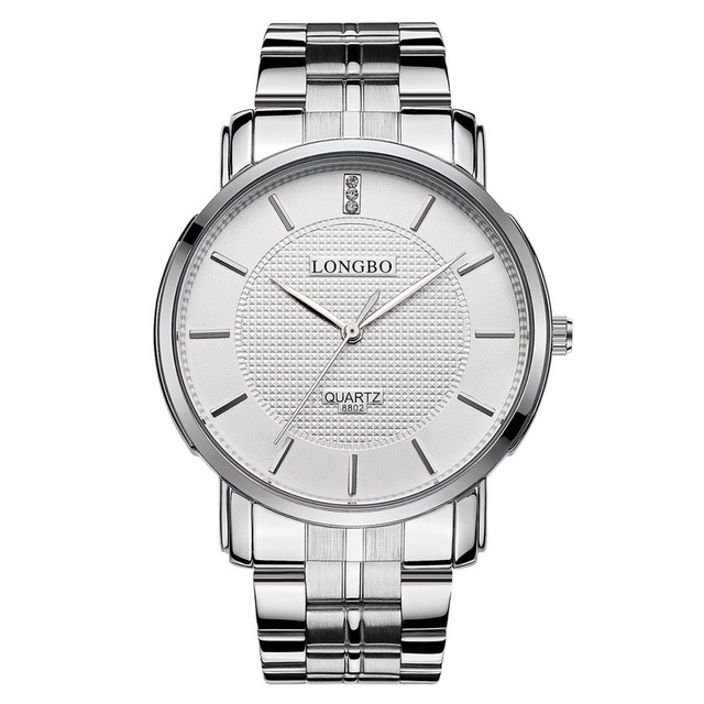 2018 Fashion Longbo Men Women's Simple Casual Style Full Stainless Steel Watchba