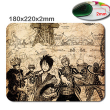 250*290*2mm/180*220*2mm One Piece Anime Mouse Mat Excessive High quality Sturdy Pc and Laptop computer Mouse Pad