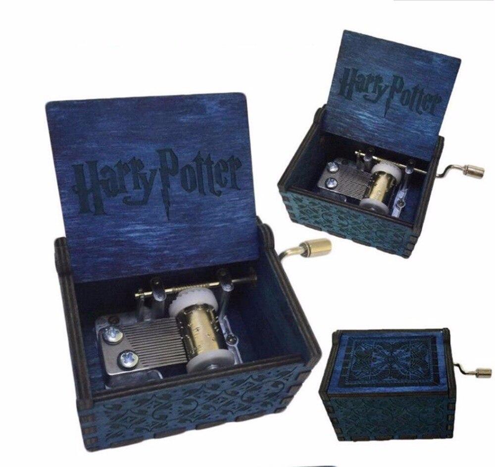 Geschnitzte holz handkurbel action figure, Harri Potter, Game of Thrones und star wars Thrones Handgemachte hölzerne Spieluhr geschenke