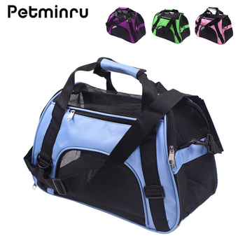 Petminru Portable Pet Backpack Messenger Carrier Bags Cat Dog Carrier Outgoing Travel Teddy Packets Breathable Small Pet Handbag