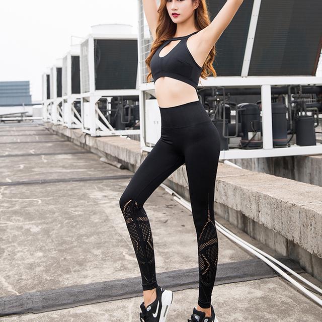2Pcs Sport Suit Clothes Sports Bra Wear For Women Sportswear Woman Gym Fitness Clothing Yoga Set Tracksuit Active Wear