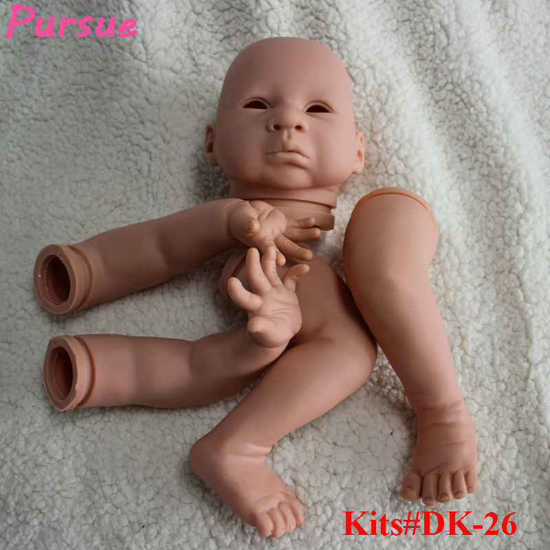 Pursue 21 inch New Unpainted Blank Reborn Kits Suit for 20-22 Inch LifeLike Baby Dolls DIY Kits Head, 3/4 Limbs Doll Accessories good price reborn baby doll kits for 17 baby doll made by soft vinyl real touch 3 4 limbs unpainted blank doll diy reborn doll