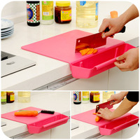 2-in-1 High Quality Thick non-slip cutting board with vegetable baskets removable combo chopping boards Kitchen Tool .